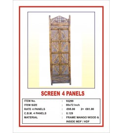 Screen 4 Panel  'Angular Design' Light