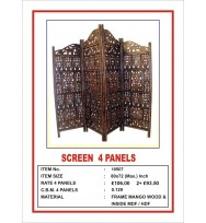 Screen 4 Panel 'Centre Peak' Leafy