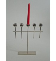 5 Light Candle Holder Nickel