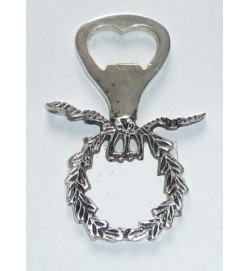 Bottle Opener Wreath Silver Ant