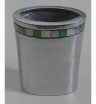 Vase Oval w/Bone Inlay
