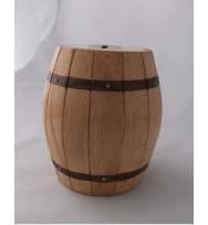 White Barrel Shape Money Box