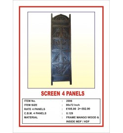 Screen 4 Panel  'Angular Design' Brown