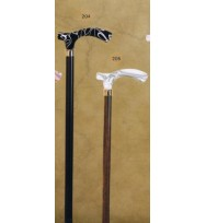 Acrylic Black Marble Handle Derby Walking Stick