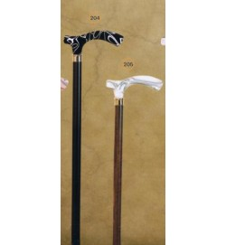 Acrylic White Marble Handle Derby Walking Stick