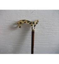 Classic 'leopard' handle Walking Stick