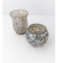 Ball Votive embelished Silver
