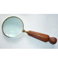 Magnifier Wood 'fluted'