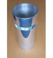 Vase straight w/Bone Inlay
