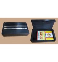 Single Card Black Box White Inlay