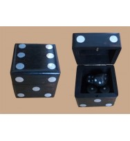 Black S/5 Dice White inlay