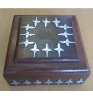 Box Square w/iron designs