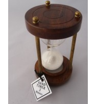 Wooden/Brass Sand Timer 3 minute