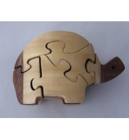 Jigsaw Puzzle Turtle 3 tone
