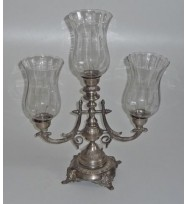 3Lt Candlestand w/shades