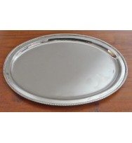 "Salver Nickel 11.75"" Oval"