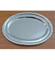 "Salver Nickel 3.5"" Oval"