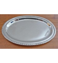 "Salver Nickel 6.75"" Oval"