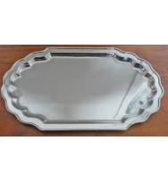 "Salver Nickel 12"" Rectangle"
