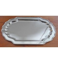 "Salver Nickel 9"" Rectangle"