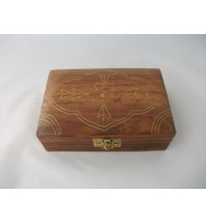 Box with Flower carving/Inlay