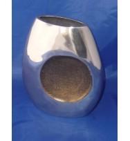 """Flat Vase Circle detail Gold 8"""""""