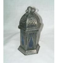 Morroccan Lantern Col'd Glass