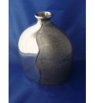 Oval Top Vase Silver Small