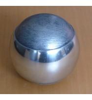 """Silver Sphere w/stripe 4"""""""