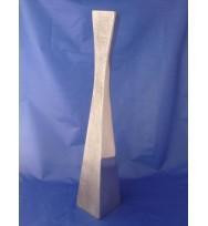 "Twist Sq Vase Silver 20"""