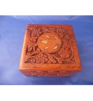 Carved Box 4x4 Polish