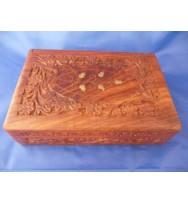 Carved Box 9x6 Polish