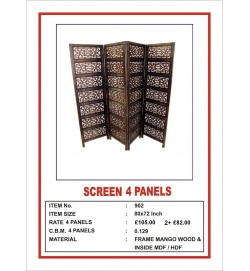 Screen 4 Panel  'Oriental Geo' Dark