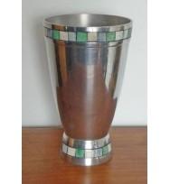 Vase Tapered w/Bone Inlay