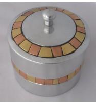 Box w/Lid Brass & Copper sqs