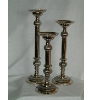 Ornate candle Holder Nickel 36cm