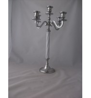 5 Light Candelabra White/Silver