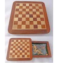 Travel Drw Chess Set 5""
