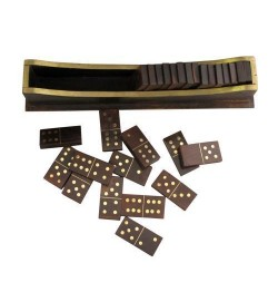 Antiqued Boat Dominoes Set