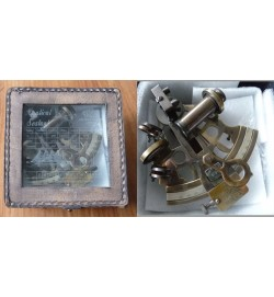 Antique Sextant in Leather Box