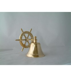 Ship Bell with Wheel
