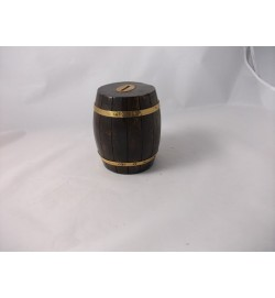 Antiqued  Barrel Shape Money Box