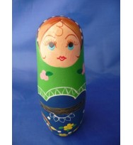 S/5 Green Russian Doll