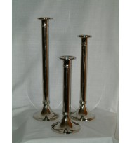 Candlestand Plain 31cm Chrome
