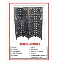 Screen 4 Panel Large Leaf