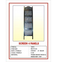 Screen 4 Panel  'Oriental Design' Dark