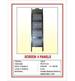 Screen 4 Panel  'Oriental Design' Dark