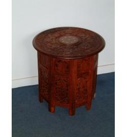 """Octagon Table (36"""" H)12"""" w/Shelf"""