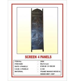 Screen 4 Panel  'Angular Design' Dark