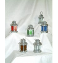 Galvanised Lantern multi colours